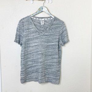 NWOT PINK VS Gray V-Neck Sleepwear Top Large